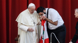 Pope Francis Alongside Father Georges Breidi