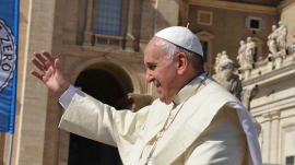 Pope Francis Addresses 500 Roman Catholic Faithfuls