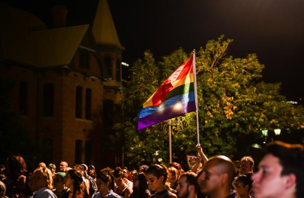 LGBT community protesting