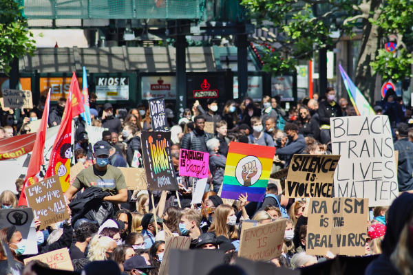 """""""Black Lives Matter"""" protest."""