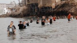 Calvary Chapel Church's Baptism 2020, held at Corona Del Mar State Beach.