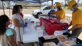 Crews provide meals (SBR) Hurricane Sally