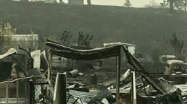 Aftermath of the Malden Fire in Washington