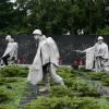 Statues of U.S. soldiers at the Korean War Veterans Memorial