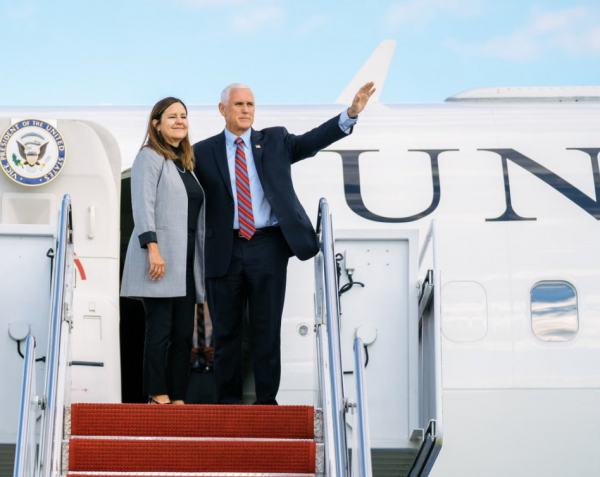 Mike Pence and The Second Lady shows love towards Trump Supporters