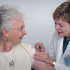 Seniors are allowed to get vaccination ahead.