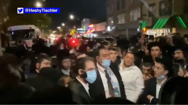 Hundreds of NYC Orthodox Jewish Community Protest COVID-19 Restrictions
