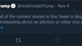 President Donald Trump's tweet, censored by Twitter