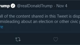 President Donald Trump's tweet, censored by Twitter