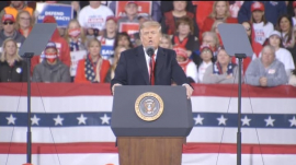 President Donald Trump during the recent Georgia rally