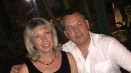 Pastor Andrew Brunson with his wife Norine