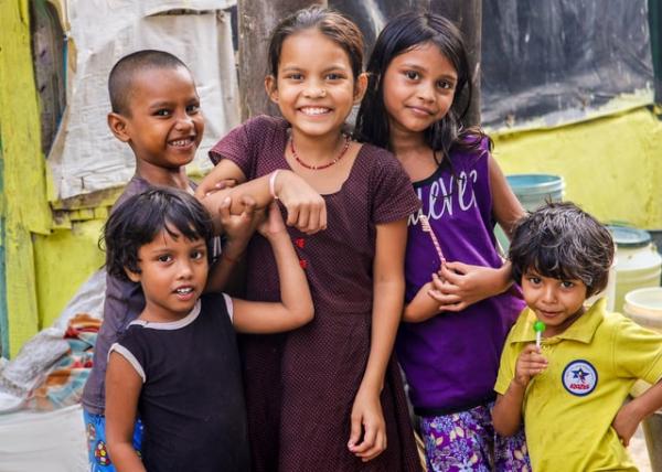 Indian kids smiling