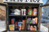 A photo of Stonebridge Christian Church's pantry for the needy.