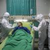 Man treated by nurses in hospital