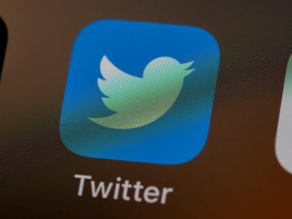 Twitter logo as seen on an iPhone