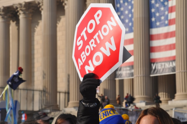 """""""Stop Abortion"""" sign"""