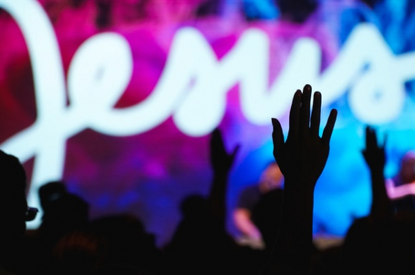 Christians worshiping Jesus Christ the Lord