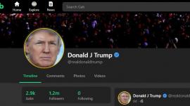 President Trump's Twitter account restored via Gab.com