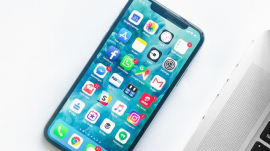 phone with various apps