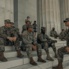 The US Army outside of the Lincoln Memorial