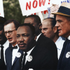 Civil Rights March on Washington, D.C. [Dr. Martin Luther King, Jr. and Mathew Ahmann in a crowd.], - 8/28/1963