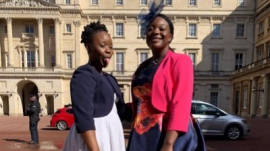Seyi Omooba (left) as seen in her Twitter account.