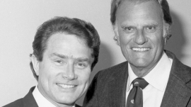 The late Luis Palau and Bill Graham