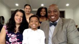 Pastor Ed Ollie Jr. and family