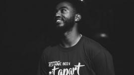 black man in church