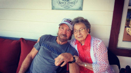Chuck Norris with his mom Wilma Norris Knight