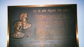 Original Wheaton College plaque
