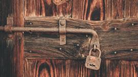 padlocked closed locked down shut