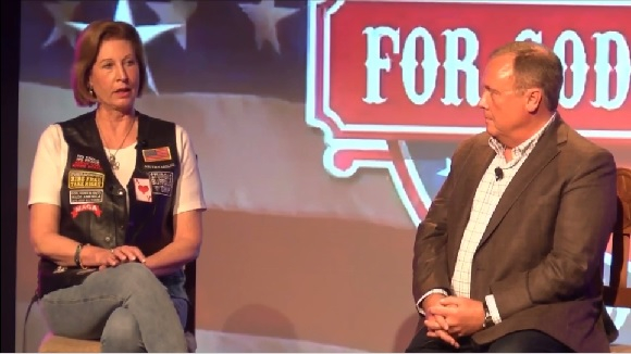 """Sidney Powell during the """"For God & Country Patriot Roundup"""""""