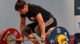 Female weightlifter Anna Van Bellinghen