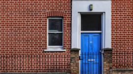 Apartment with blue door