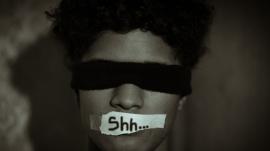 hush silenced censor censored quiet