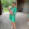Sadie Robertson-Huff with baby Honey James
