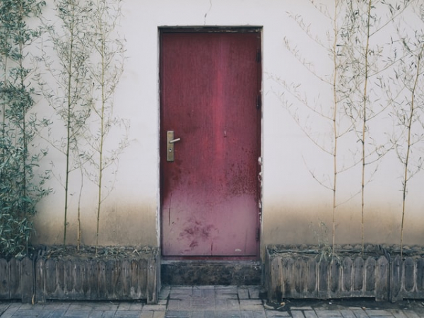 closed door China