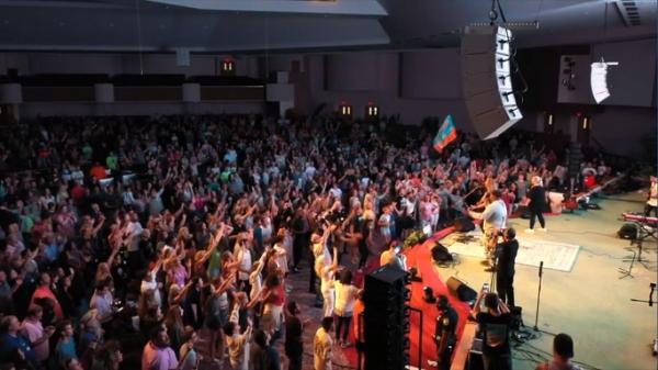 Sean Feucht's Let Us Worship tour in Virginia (screenshot / Sean Feucht / Instagram)