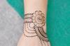 Pakistani Indian girl woman hand henna