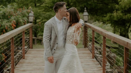 Jacob Mayo and Bella Robertson tied the knot