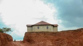 Photo of an abandoned church in Uganda