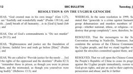 SBC Resolution 8: On The Uyghur Genocide of China
