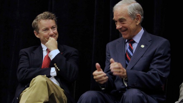 Rand Paul with dad Ron Paul