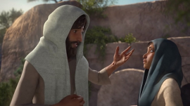 the Risen Christ meeting with Mary Magdalene after the Resurrection