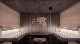 spa sauna room section
