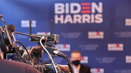 Biden-Harris campaign team campaigning for Joe Biden