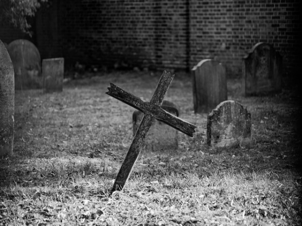 cross in cemetery burial bury the dead