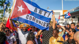 Cuba protest against communist dictatorship