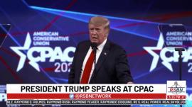 President Donald J. Trump during CPAC 2021